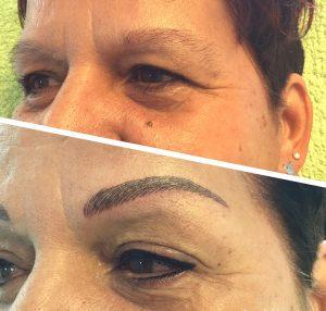 Vorher/Nachher Fotos Permanent Make-Up Lidstrich